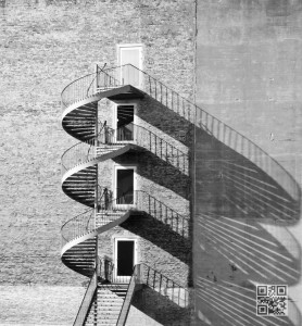 spiral staircase shaddows